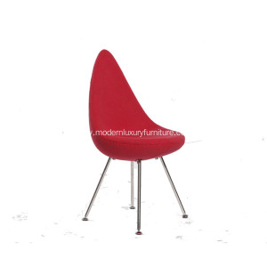 Factory provide nice price for Linen Fabric Dining Chair,Fabric Luxury Dining Chair,Fashionable Fabric Dining Chair Suppliers in China Small Comfy Red Drop Chair supply to Portugal Exporter