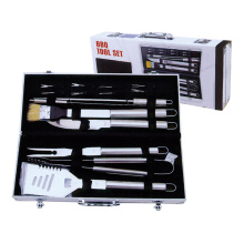 Special for Barbecue Set 15pcs BBQ set with skewers and corn holder supply to India Manufacturer