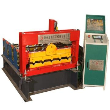 Horizontal hydraulic arc bed roll forming machine
