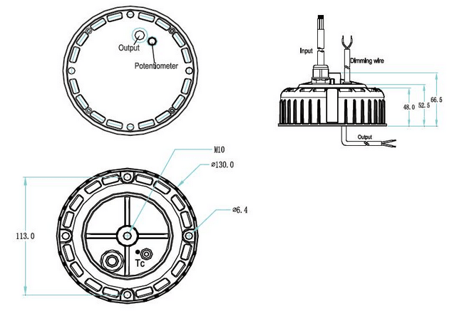LTP-100Y036 Mechanical Drawing