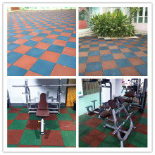 Best Quality for Gym Exercise Rubber Mats 10-50mm thickness rubber tile removable sport floor supply to Djibouti Supplier