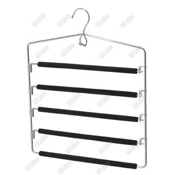 Durable five Layers EVA Foam padded Metal hangers