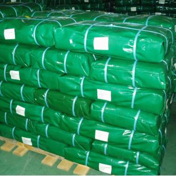Green PE tarp bale packing for covering