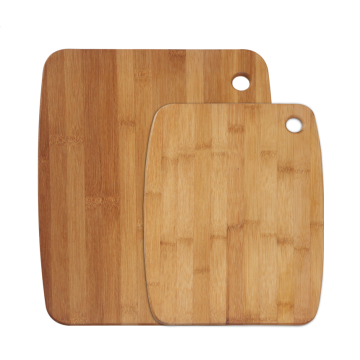 Bamboo cutting board with portable hole
