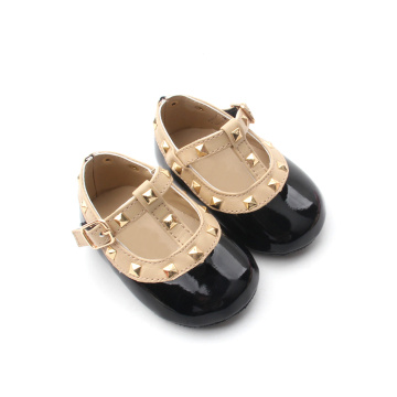 Handmade Rivet T Bar Unisex Baby Dress Shoes
