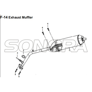 F-14 Exhaust Muffler for XS175T SYMPHONY ST 200i Spare Part Top Quality