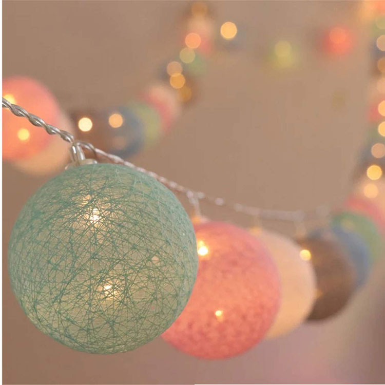 led cotton ball light string