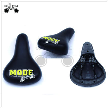 Custom black yellow bike saddle for kids
