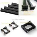I-OEM machining Black Anodized CNC Aluminium Tube Clamp 25mm Diamitha