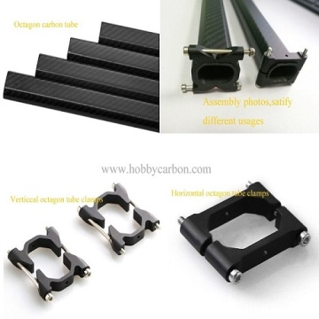 Anodized Aluminum Carbon Tube Clamp For Fiber Pipes