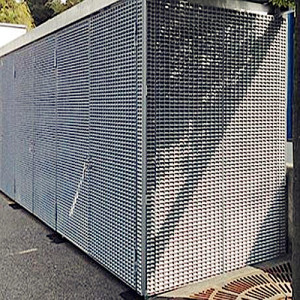 Galvanized Steel Bar Grid Container