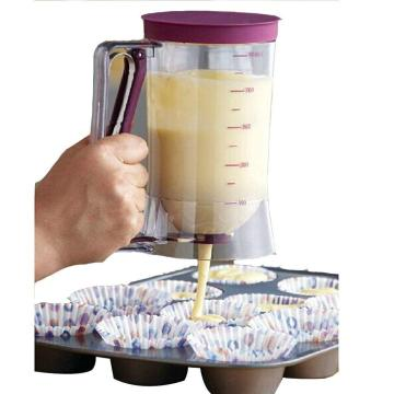 Plastic Cupcake Batter Dispenser With Measuring Label