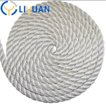Factory produce durable 3 strand 8mm towing rope