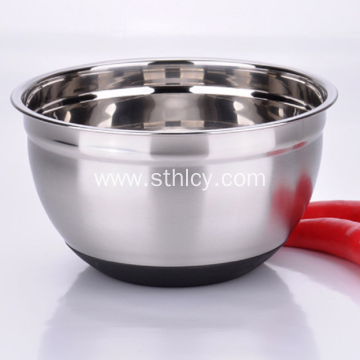 Silver Bowl for Egg-beating Sets Stainless Steel Material
