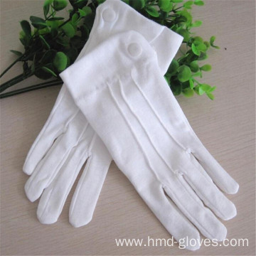 Marching Band Uniform Cotton Gloves Military Parade White