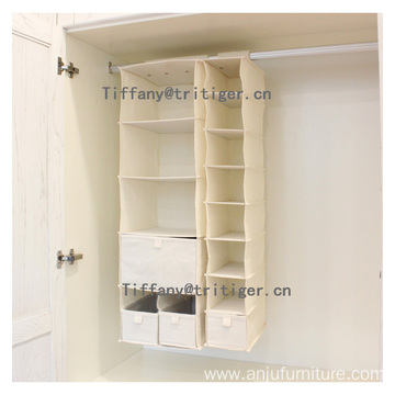 4 6 shelf foldable clothes hanging Closet organizer