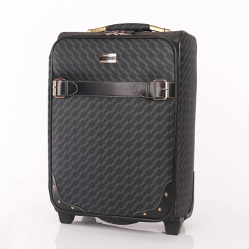 Durable vintage private label PU leather luggage