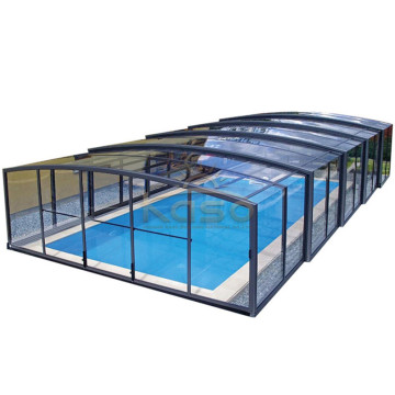 Cover Polycarbonate Telescopic Swimming Pool Enclosure
