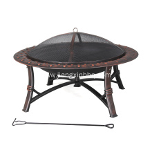OEM for Outdoor Fireplace,Patio Fire Pit,Outdoor Firepit Manufacturers and Suppliers in China High Temperature Painted Steel Wood Burning Fire Pit supply to France Importers