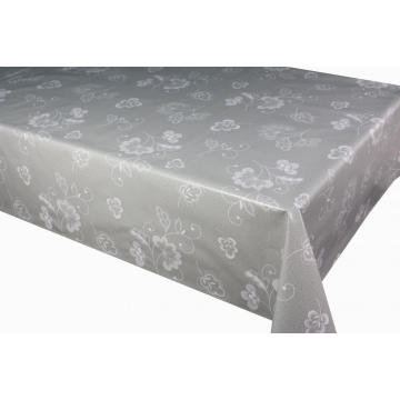 Elegant Tablecloth with Non woven backing Flannel Backed