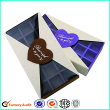 China supplier OEM for Chocolate Paper Box Custom White Chocolate Box With Clear Lid supply to Malaysia Factory