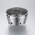 Folding Stainless Steel Round Bbq Grill For Outdoor