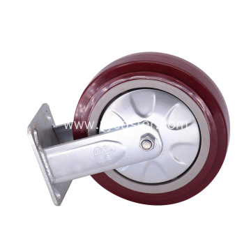 Rigid Caster  8 inch PVC Wheels
