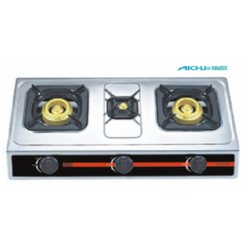 Stainless Panel Table Gas Stove 3 Burners