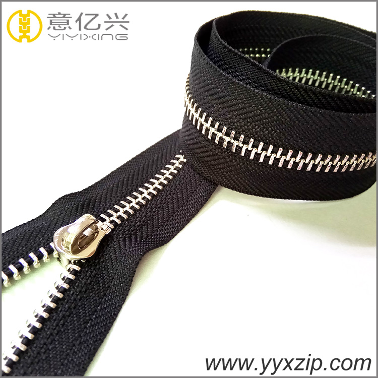 Open End Nickel Metal Zipper