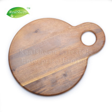 Leading for Wood Cutting Board Round Shape Multifunctional Wood Cutting Board export to Spain Supplier