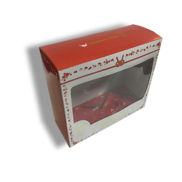 Decorative shipping boxes with PET window