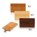 Wooden Flip Card USB Flash Drive