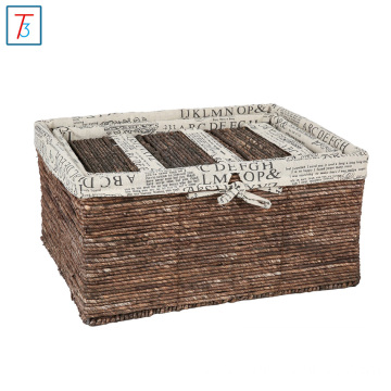 Hot sale storage and tissue wicker canvas basket
