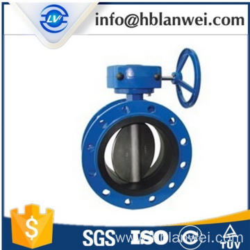 Worm Gear Double Flange Butterfly Valves