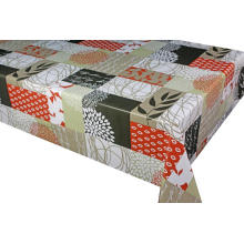 Pvc Printed fitted table covers Runner Gray
