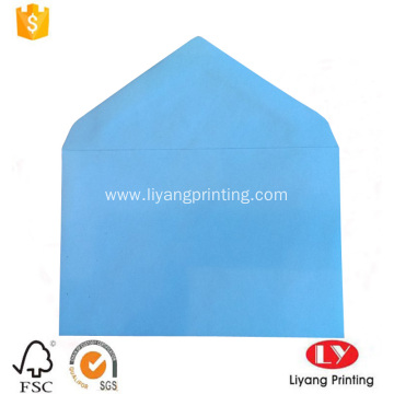 Blue printed adhesive gift packaging paper envelope