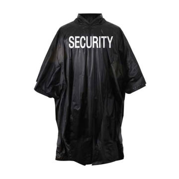 Wholesale Plastic Adult PVC Black Poncho
