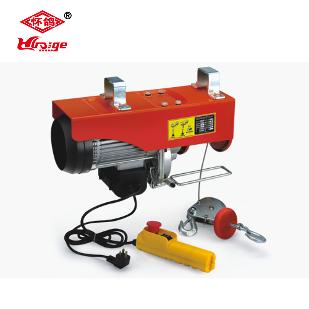 110V Electric Wire Rope Hoist with Running Trolley