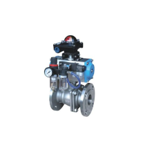 DN100 Professional  Stainless Steel Pneumatic Ball Valve