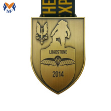 Renewable Design for Running Medal,Custom Running Medals,Running Race Medals Manufacturers and Suppliers in China Custom made gold shield metal medals supply to El Salvador Suppliers