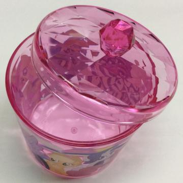 Plastic round storage box with lid