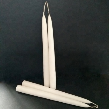 Smokeless Hand Dipped Wick Linked Ivory Taper Candles