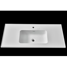 "24"" stone resin embedded washbasin for bathroom cabinet"