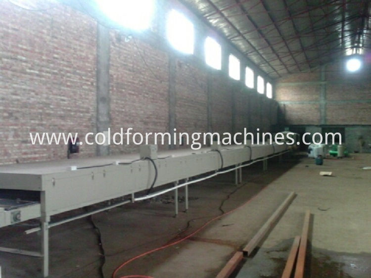 Colorful metal roof cement roof tile machine