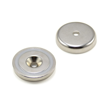 Ndfeb Pot neodymium magnet with countersunk hole