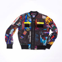 Men Polyester all over printing jacket