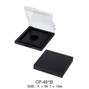 Square Cosmetic Compact with Transparent Lid