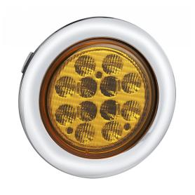 4 Inch Round LED Truck Turning Lamps Chrome