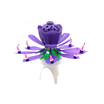 Großhandel Lotus Flower Music Fireworks Candle