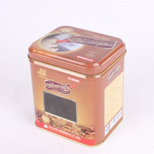 Wholesale Price for Metal Coffee Tin Box Square window coffee pot tin can export to Spain Factories